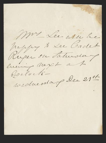 robert e lee wife. 128, [Lee, Robert E.] Mary