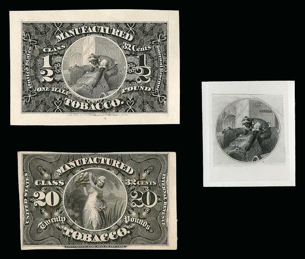 robert a siegel auction galleries inc page   1 2 pound tobacco 1868 issue hybrid die essay on turner tf 5 essay cut to shape and pressed on 81 x 56mm card cbnco incorporated into