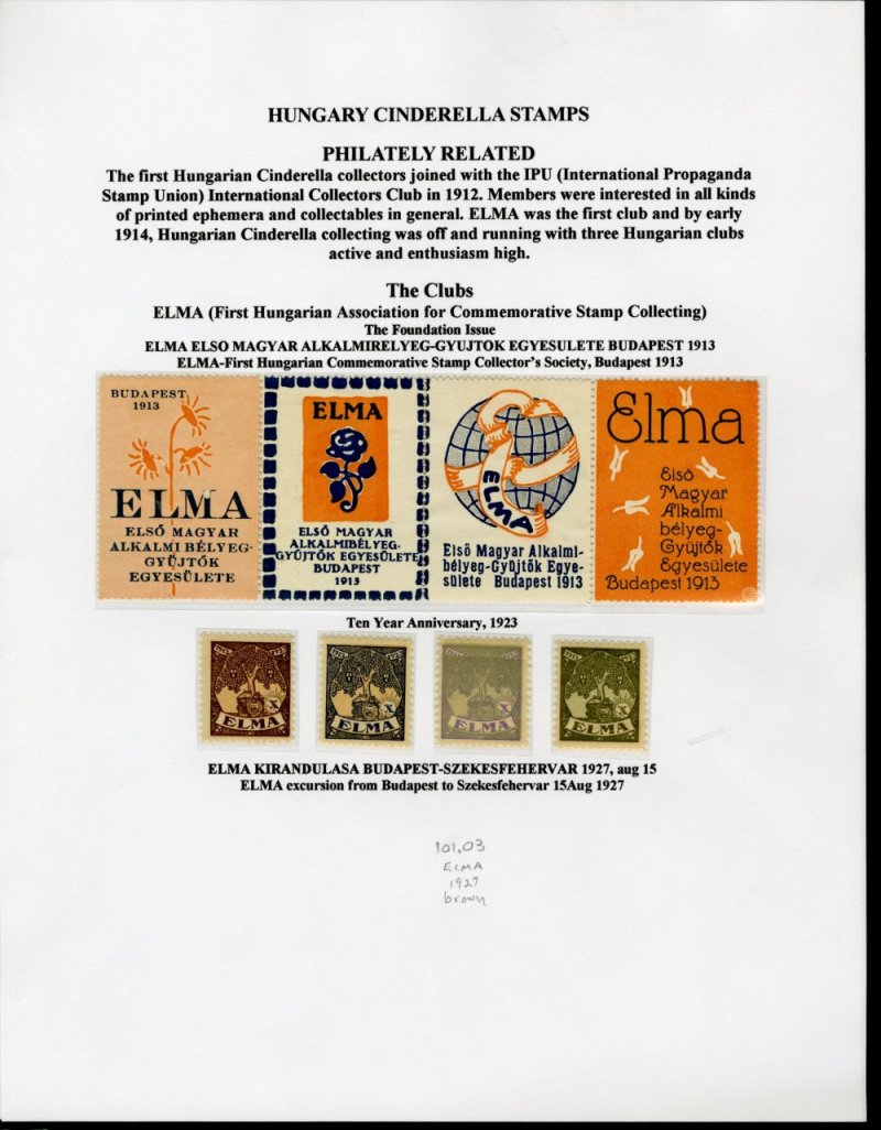 Specialty Philately Thematic 5681 Cinderellas Poster Stamps Labels Cinderella Etc