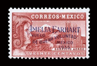 C74 1935 20c Amelia Earhart An Exceptionally Fresh Mint Example Of This Rare And