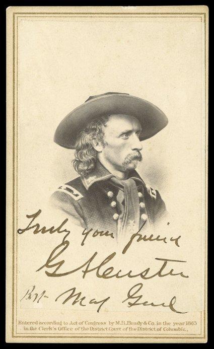 323 George Armstrong Custer Scarce Civil War Date Carte De Visite
