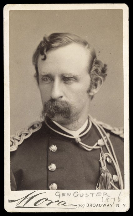 325 George Armstrong Custer Choice Date Carte De Visite Photograph By Mora Of